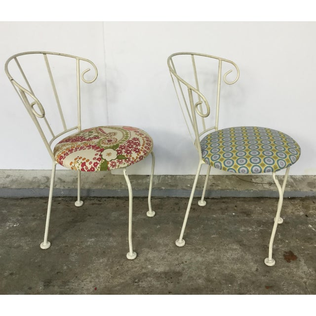 Mid-Century Painted Cast Iron Chairs - A Pair - Image 8 of 9