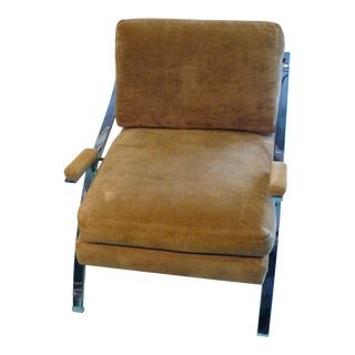Mid-Century Carsons of High Point Flat Bar Chrome Lounge Chair For Sale