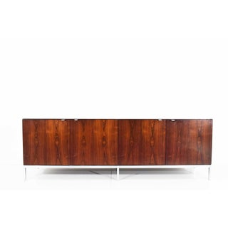 Florence Knoll Rosewood Credenza With Calacatta Marble Top Preview