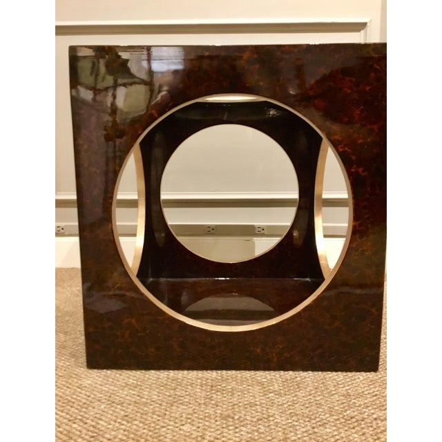 Glass Roulette Side Table For Sale - Image 7 of 7