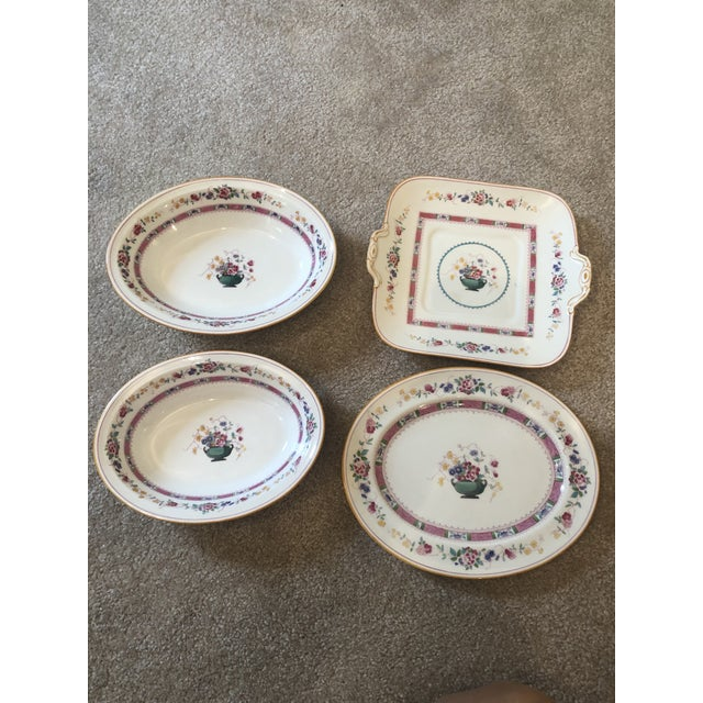 """Early 20th Century English Royal Doulton """"Urn"""" Pattern Dinner Set - 80 Pieces For Sale - Image 5 of 13"""