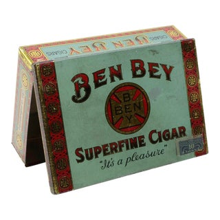 "Antique ""Ben Bey"" Cigar Tin For Sale"