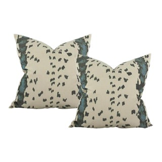 Duchamp Blue Pillow Covers - A Pair