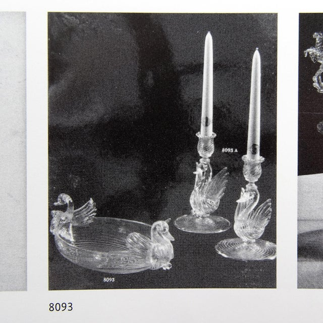 Glass Seguso Vetri d'Arte Murano Green Gold Leaf Swans Italian Art Glass Bowl For Sale - Image 7 of 8