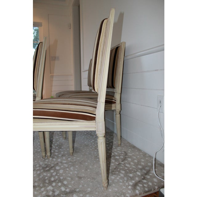 Louis XVI Style Dining Chairs - Set of 6 For Sale In New York - Image 6 of 8
