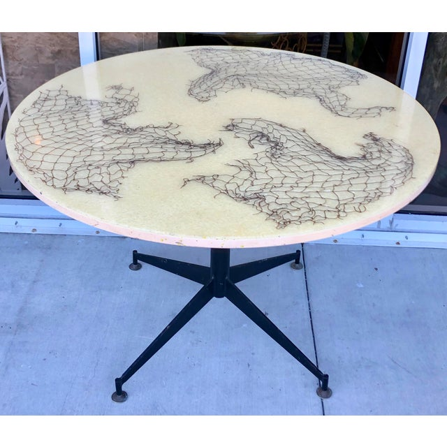 Black Gio Ponti Style Round Dining Table For Sale - Image 8 of 8