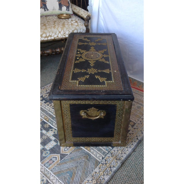 1980s Moroccan Chest / Coffee Table For Sale - Image 12 of 13