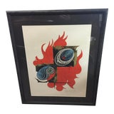 """Image of Enokido Maki 1970 Lithograph 15 of 30 """"Efflorescence C"""" For Sale"""