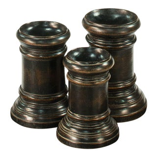 Round Wood Decorative Bases - Set of 3