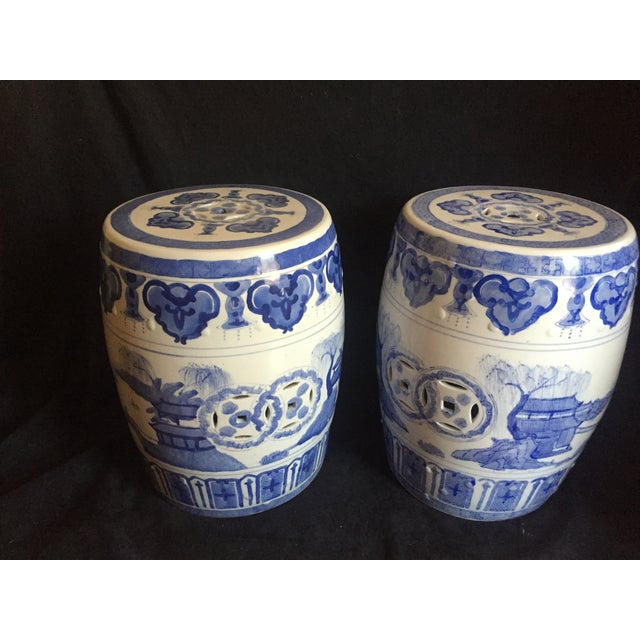 Chinese Garden Stools - Pair - Image 2 of 6