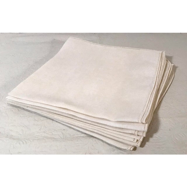 Mid 20th Century Vintage Mid-Century Modern Linen Table Napkins - Set of 6 For Sale - Image 5 of 5
