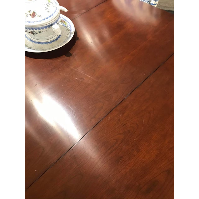 Metal Traditional Hickory Chair Choate Dining Table For Sale - Image 7 of 12