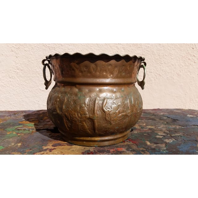 Vintage Copper Amp Brass Fluted Planter Chairish