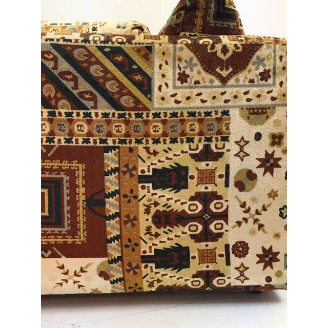 Midcentury Loveseat in Jack Larsen Style Cotton Felt For Sale - Image 9 of 10