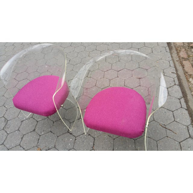1970's Mid-Century Flexuous Lucite Chairs - A Pair - Image 5 of 9