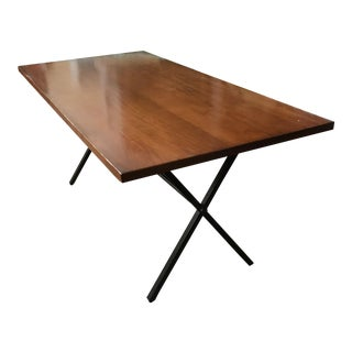 Modern Style Wood and Iron Dining Table
