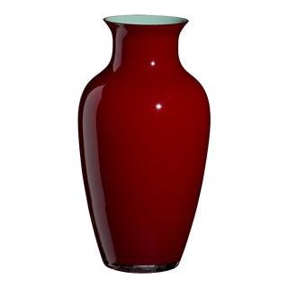 Carlo Moretti Cinesi Vase in Dark Red For Sale
