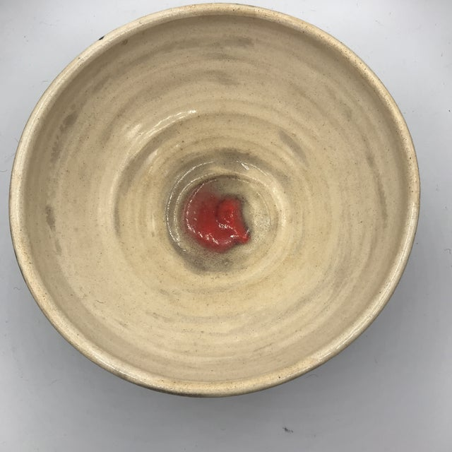 Mid-Century Oxblood Decorated Signed Studio Pottery Bowl Signed For Sale In New York - Image 6 of 7