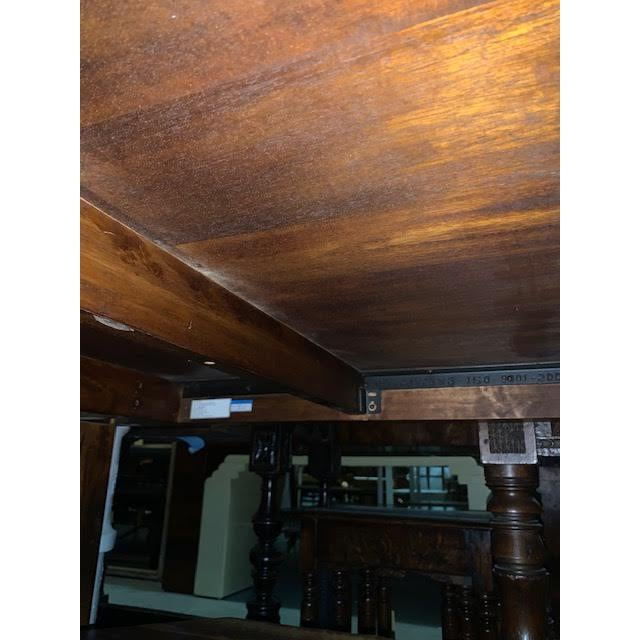 Wood American Mission Walnut Dining Table For Sale - Image 7 of 7