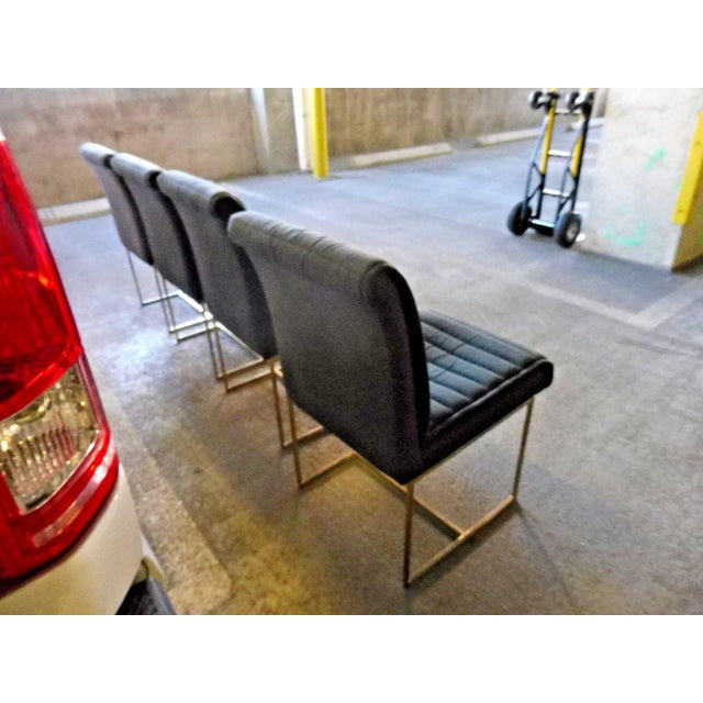 Gold 1970's Mid-Century Modern Milo Baughman Dining Chairs - Set of 4 For Sale - Image 8 of 13