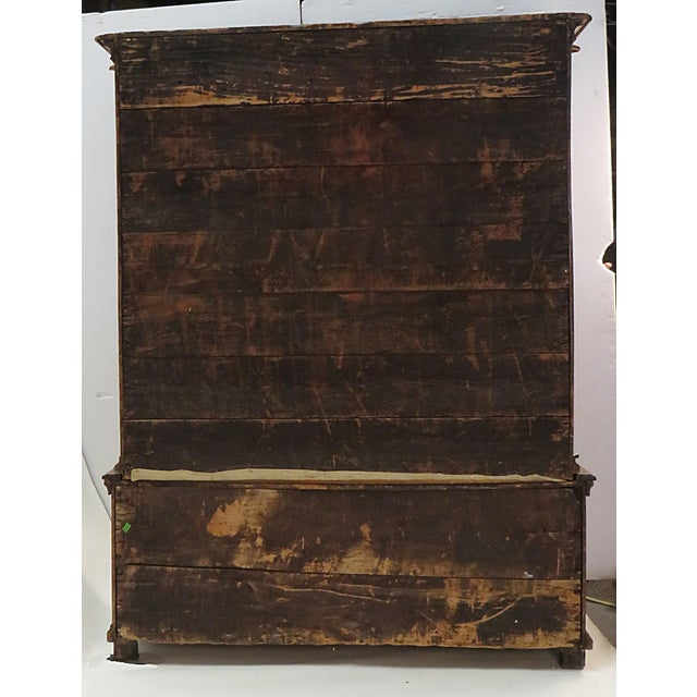 Early 19th Century Elm Richly Carved Baltic Cabinet For Sale - Image 4 of 8