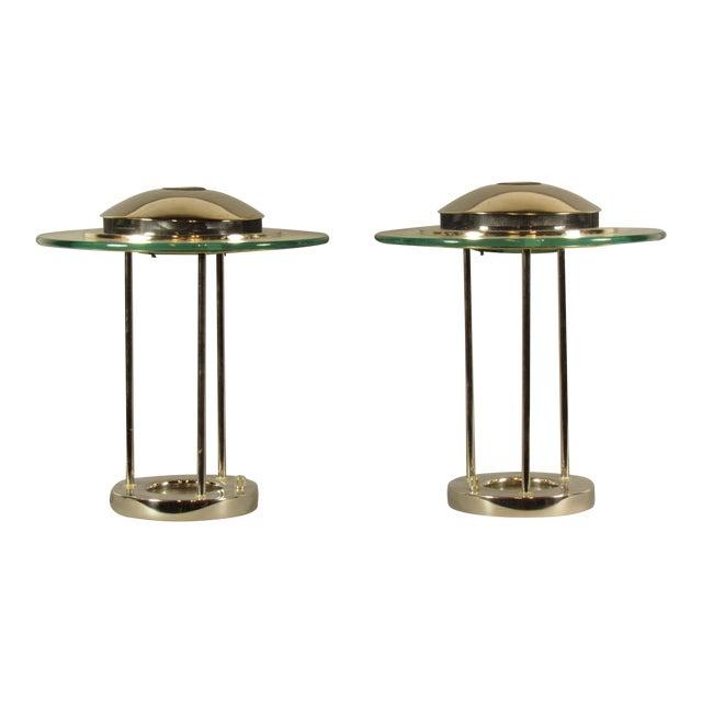 Sonneman Saturn Lamps - A Pair For Sale
