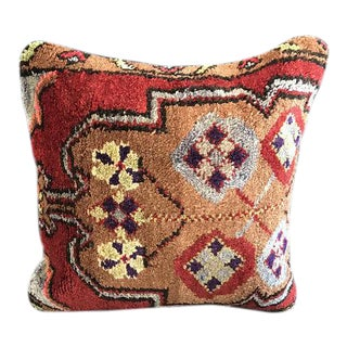 1960's Turkish Tribal Handmade Oushak Pillow Case For Sale