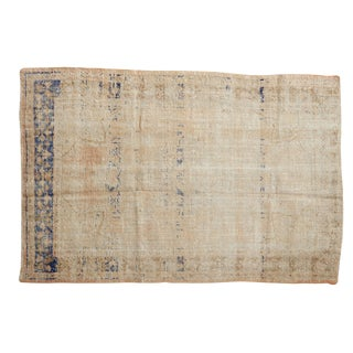 "Vintage Distressed Oushak Rug - 3'5"" X 5'2"" For Sale"