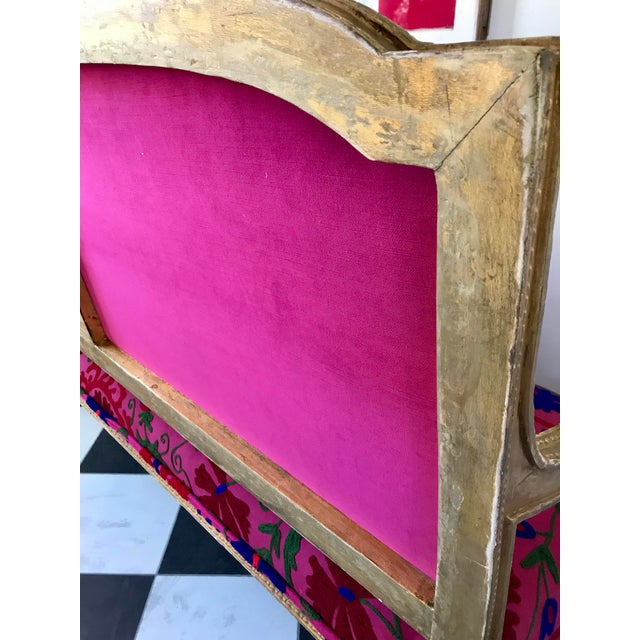 French Boho Settee For Sale - Image 11 of 13