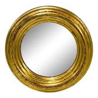 1970s Round Florentine Wall Mirror For Sale