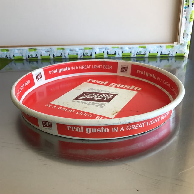 Schlitz Vintage Red Tray - Image 3 of 4