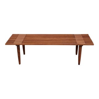 Solid Wood Slat Bench Coffee Table