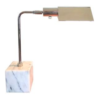 Vintage Koch Lowy Marble Chrome Desk Lamp For Sale