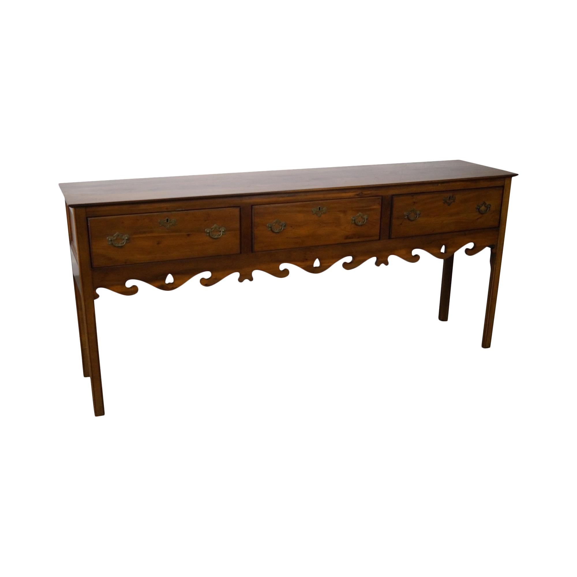 Wright Table Company Yew Wood 3 Drawer Hunt Board Sideboard