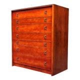 Image of Mid Century Paul Frankl for Johnson Furniture John Stuart Seven Drawer Dresser For Sale