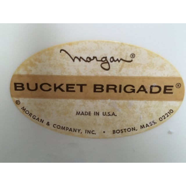 Vintage Morgan Bucket Brigade Ice Bucket For Sale - Image 9 of 11