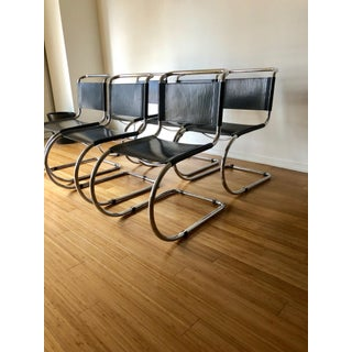 Vintage Leather Mies Van Der Rohe for Thonet Mr10 Chairs- Set of 6 Preview