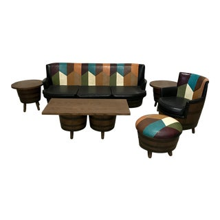 1960's Whiskey Barrel Sofa Set For Sale