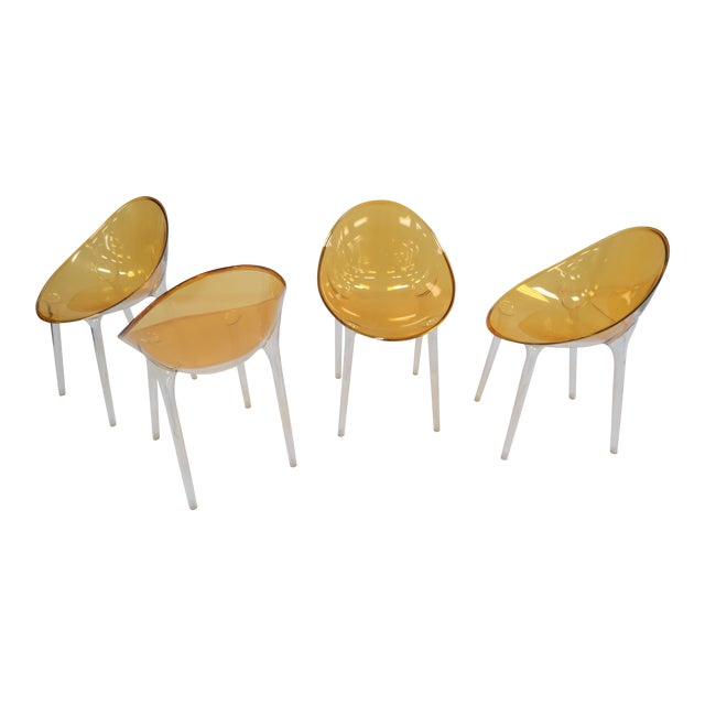 1990s Philippe Starck Kartell Mr. Impossible Chairs- Set of 4 For Sale