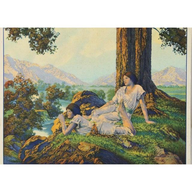 "1927 Maxfield Parrish ""Hilltop"" Original Art Print - Image 4 of 6"