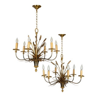 Maison Charles Bronze Chandeliers - a Pair For Sale