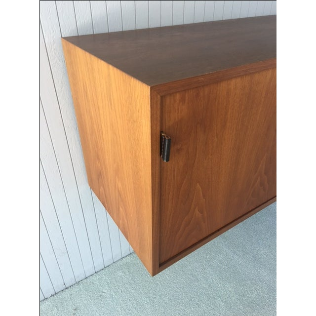 Mid-Century Modern Florence Knoll Wall Mounted Credenza Cabinet For Sale - Image 3 of 6