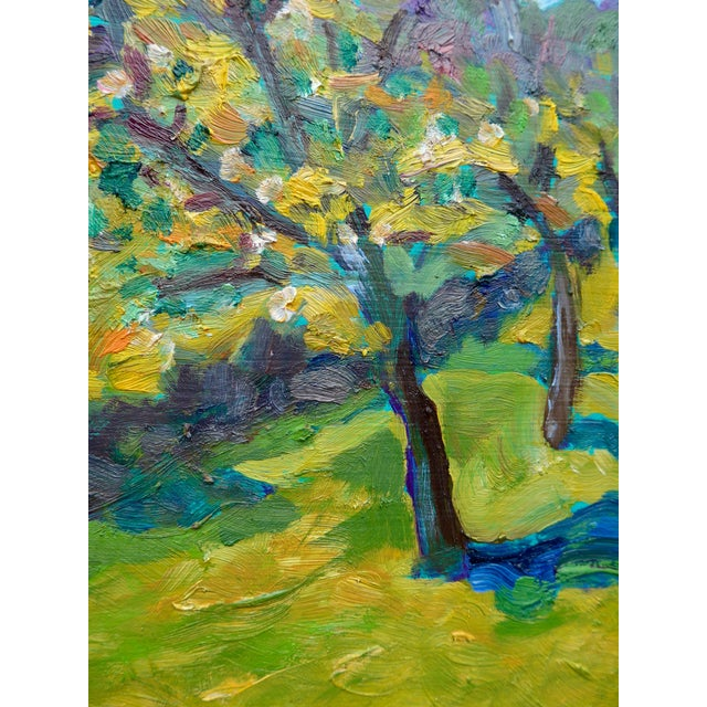 French Orchard in the Spring Plein Air Painting - Image 6 of 7
