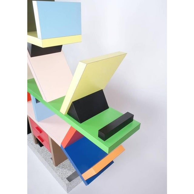 1990s Carlton Bookcase Roomdivider by Ettore Sottsass for Memphis, 1981 For Sale - Image 5 of 6
