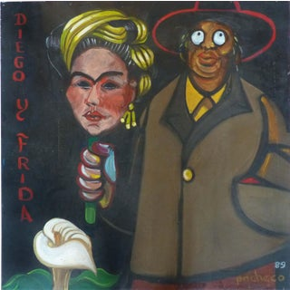 Original Painting of Diego Rivera & Frida Kahlo by Ferdie Pacheco