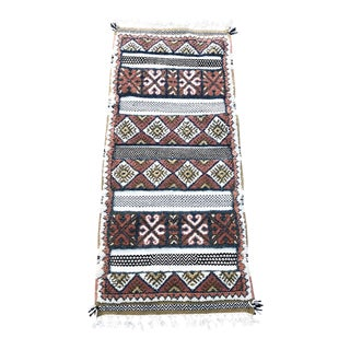 Vegetable-Dyed Glaoui Moroccan Runner For Sale