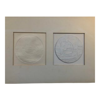 Collage and Relief Print by Richard Most 1960s For Sale