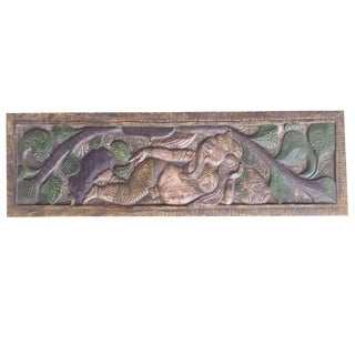 India Artisan Carving Wall Hanging For Sale