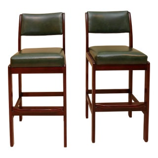 Green Bar Stools- A Pair For Sale