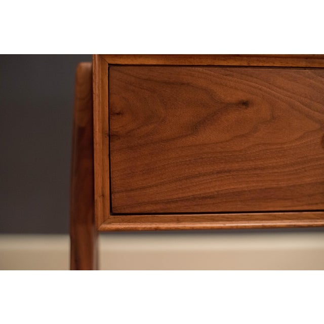 Mid Century Walnut Floating Nightstands by Drexel Declaration For Sale - Image 10 of 13